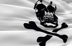 Bandeira de pirata de ondulação Foto de Stock Royalty Free