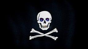 Bandeira de pirata, olhos azuis ilustração do vetor