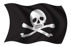 Bandeira de piratas ilustração stock