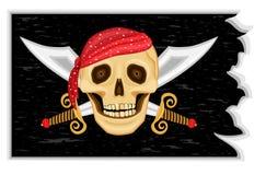 Bandeira de piratas alegre de Roger Imagens de Stock Royalty Free