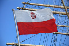 Bandeira de Poland Fotografia de Stock Royalty Free