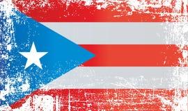 Bandeira de Porto Rico, comunidade de Porto Rico Pontos sujos enrugados ilustração stock