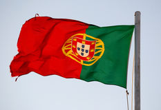 Bandeira de Portugal Fotografia de Stock Royalty Free