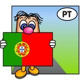 A bandeira de Portugal Fotos de Stock