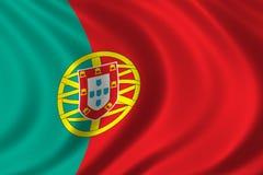 Bandeira de Portugal Imagem de Stock