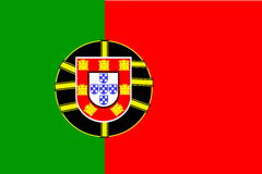 Bandeira de Portugal Fotos de Stock