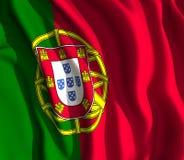 Bandeira de Potugese Imagens de Stock Royalty Free