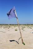 Bandeira de praia Foto de Stock