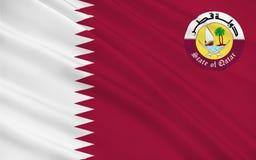 Bandeira de qatar imagem de stock royalty free