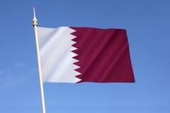 Bandeira de qatar Fotografia de Stock Royalty Free