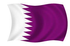 Bandeira de qatar Fotos de Stock Royalty Free