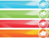 Bandeira de quatro estações Foto de Stock