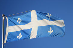Bandeira de Quebeque Foto de Stock Royalty Free