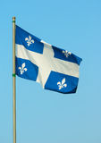 Bandeira de Quebeque Imagens de Stock