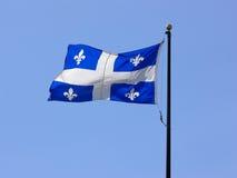 Bandeira de Quebeque Fotografia de Stock Royalty Free