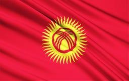 Bandeira de Quirguistão imagem de stock