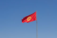 Bandeira de Quirguizistão Fotos de Stock