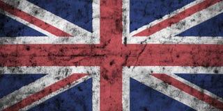 Bandeira de Reino Unido com detalhe alto de papel amarrotado sujo velho ilustração 3D ilustração royalty free
