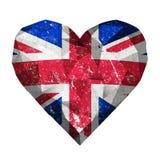 bandeira de Reino Unido do coração do amor ilustração do vetor