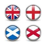 Bandeira de Reino Unido - Inglaterra, Escócia, Irlanda Union Jack Imagem de Stock Royalty Free