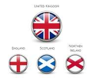 Bandeira de Reino Unido - Inglaterra, Escócia, Irlanda Union Jack Fotografia de Stock Royalty Free