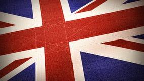 Bandeira de Reino Unido na matéria têxtil - ilustração Foto de Stock Royalty Free