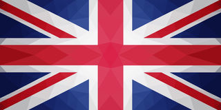 Bandeira de Reino Unido - teste padrão poligonal triangular Foto de Stock