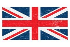 A bandeira de Reino Unido Union Jack afligiu isolado ilustração stock