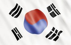 Bandeira de República da Coreia Fotografia de Stock