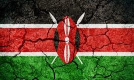 Bandeira de República do Quénia Imagens de Stock