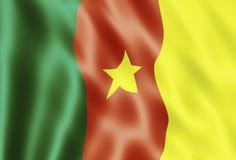 Bandeira de República dos Camarões Foto de Stock Royalty Free