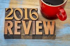 bandeira de 2016 revisões no tipo de madeira Imagem de Stock Royalty Free