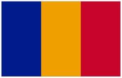 Bandeira de Romênia Fotografia de Stock