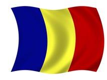 Bandeira de romania Foto de Stock