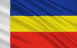 Bandeira de Rostov Oblast, Federação Russa ilustração do vetor