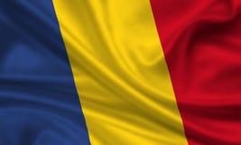 Bandeira de rumania Foto de Stock Royalty Free