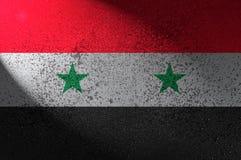 Bandeira de Síria pintada na parede Fotos de Stock Royalty Free