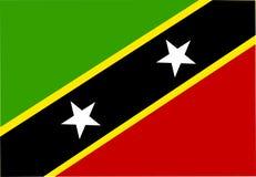 Bandeira de Saint Kitts e do St. de Nevis Foto de Stock