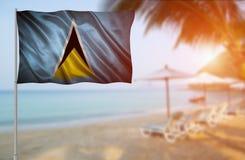 Bandeira de Saint Lucia Imagem de Stock