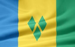 Bandeira de Saint Vincent And The Grenadines Fotografia de Stock Royalty Free