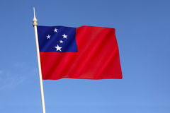Bandeira de Samoa Fotografia de Stock Royalty Free