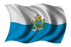 Bandeira de San Marino Fotografia de Stock Royalty Free