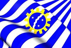Bandeira de Sao Jose Dos Campos, Brasil Fotografia de Stock Royalty Free