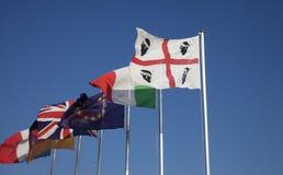 Bandeira de Sardinia Imagens de Stock Royalty Free