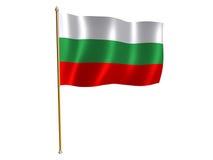Bandeira de seda búlgara Foto de Stock
