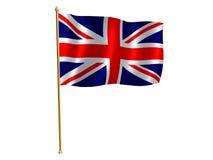 Bandeira de seda BRITÂNICA Fotografia de Stock Royalty Free