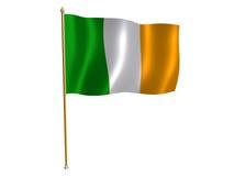 Bandeira de seda irlandesa Fotos de Stock