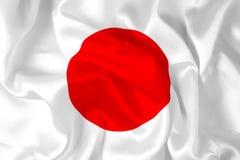 Bandeira de seda japonesa - digital ilustração royalty free