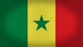Bandeira de Senegal Fotos de Stock Royalty Free