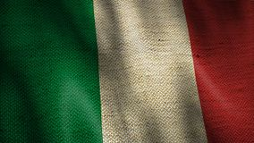 Bandeira de serapilheira de Itália video estoque